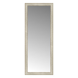 """Posters 2 Prints, LLC - 18"""" x 45"""" Libretto Antique Silver Custom Framed Mirror - 18"""" x 45"""" Custom Framed Mirror made by Posters 2 Prints. Standard glass with unrivaled selection of crafted mirror frames.  Protected with category II safety backing to keep glass fragments together should the mirror be accidentally broken.  Safe arrival guaranteed.  Made in the United States of America"""