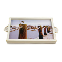 Wickford Pilings Tray/Wall Art Rope Handles - It's a tray; It's wall art. It's BOTH, and It's Made In the USA!