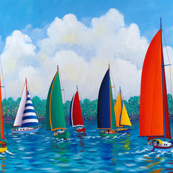 Murals Your Way - Festive Regatta Wall Art - Painted by Hugh  Harris, Festive Regatta wall mural from Murals Your Way will add a distinctive touch to any room