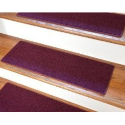 "Dean Flooring Company - Dean Non-Slip Tape Free Pet Friendly DIY Carpet Stair Treads/Rugs 27"" x 9"" (15) - Dean Non-Slip Tape Free Pet Friendly DIY Carpet Stair Treads/Rugs 27"" x 9"" (15) - Color: Burgundy : Quality, Stylish Carpet Stair Treads by Dean Flooring Company. Extend the life of your high traffic hardwood stairs. Reduce slips/increase traction. Cut down on track-in dirt. Great for pets and pet owners. Made in the USA from quality, long lasting stain resistant olefin carpeting with non-slip padded foam backing. Stands up great to high traffic. A fresh new look for your staircase. Do-it-yourself installation is quick and easy with our unique non-slip backing. Simply place your stair tread rugs on your staircase and go. No tapes, adhesives, staples, glue, or Velcro needed. And rest assured, they won't move and they won't damage your hardwood either. They are also simple and easy to remove as well with no sticky residue left behind. Each tread is bound with color matching binding tape. No bulky fastening strips. You may remove your treads for cleaning and re-attach them when you are done. Add a touch of warmth and style to your stairs today with new stair treads from Dean Flooring Company! We make our own stair treads at Dean Flooring Company and our products are not available from anyone else."