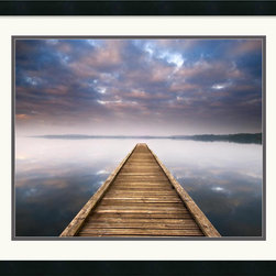 Amanti Art - Lake Walk III Framed Print by Jonathan Chritchley - Photographer Jonathan Chritchley uses the play of light and shadow in this fine art print 'Lake Walk III' to bestow a magical quality to this coastal setting.