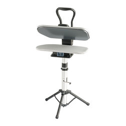 Singer Sewing Co - Singer Sewing Co Steam Press Stand for ESP2 ESP18 - This steam press stand for ESP2 or ESP18 provides a stable surface to work,complete with an adjustable height feature. The stand folds up for storage and includes a collapsible side shelf.
