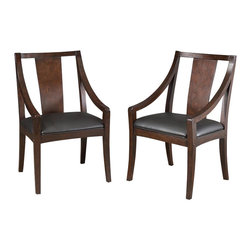 Home Styles - Home Styles Rio Vista Game Chair Pair - Home Styles - Poker Table Chairs - 5902812 - The Rio Vista contemporary style Game Chair is constructed of poplar solids and birch veneers in a multi-step Espresso finish with a Black vinyl cushioned seat.  Sold two per pack.