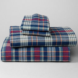 5.4-Ounce Flannel Patterned Sheet Set, Navy - Flannel sheets are a must-have if you live in a cool climate. We have these Eddie Bauer sheets, and they stay soft and smooth wash after wash.