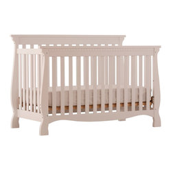 Stork Craft - Stork Craft Venetian 4-in-1 Fixed Side Convertible Crib in White - Stork Craft - Cribs - 04587131 - Experience nursery luxury at its very best with the Venetian 4 in 1 Fixed Side Convertible Crib by Stork Craft.This is a classic crib with graceful elegant curves and timeless design. The construction of the Venetian is sturdy the finish is gorgeous the design is stunning and the value is impressive. With secure static side rails this piece provides the ultimate in stability and function. This crib will grow with your child as it converts from a full size crib to a toddler bed to a daybed to a full-size bed (bed rails not included). Set-up this timeless piece effortlessly with its simple easy to follow assembly directions. Complete your nursery look by adding a Stork Craft changing table chest dresser or glider and ottoman.