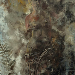 overstockArt.com - Ledent - Venus 882111 - Venus 882111 is a canvas print of a modern and abstract Ledent painting of an ancient Greek statue that represents the goddess Aphrodite. Originally oil on canvas stretched on a wooden frame size 31,5 x 31,5 inches. Pol Ledent was born in 1952 in Belgium. He came to painting in 1989. He started with watercolor but felt rapidly that oil painting would match his way of being. He is a self-taught painter . Nevertheless he took some drawing lessons in a Belgian academy. After taking part into numerous group exhibitions, some galleries in Belgium proposed to him to exhibit his works. Dinant, Bouillon, Brussels , Paris and Moscow in October 2006.