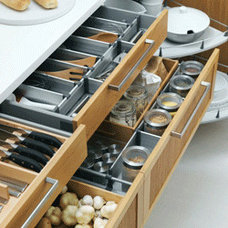 Contemporary Kitchen IKEA cabinet drawers