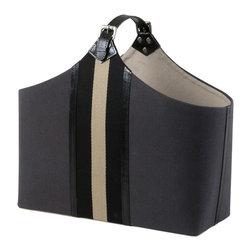 Eichholtz Oroa - Bag Goldwynn - Magazine or log basket - Dark grey canvas