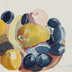 Late 20th C. Watecolor Still Life by Alysanne McGaffey