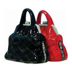 WL - 2.5 Inch Kitchenware Black and Red Purses Salt and Pepper Shakers - This gorgeous 2.5 Inch Kitchenware Black and Red Purses Salt and Pepper Shakers has the finest details and highest quality you will find anywhere! 2.5 Inch Kitchenware Black and Red Purses Salt and Pepper Shakers is truly remarkable.