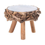 n/a - Drift Wood Stool - Step up the style in any room with this unique stool.  Use it as a seat, a foot rest, or to gain a few inches when you need to reach the top shelf!  Wood and metal.