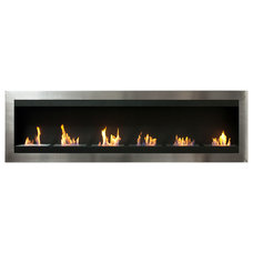 Modern Indoor Fireplaces by Luz Modern
