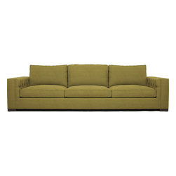 "Garber 90"" Sofa - Sophisticated yet innovative - the Peralta Sofa offers sleek straight lines with an element of surprise. The strong - modern arms are fashionably tufted on the interior. The Peralta Collection offers ample - lush seating."