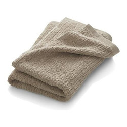 Ribbed Sand Bath Towel - Broad borders of vertical ribbing with flat banded edges finish our spa-style sand towels in absorbent 500-gram cotton.