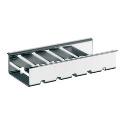 "WS Bath Collections - Liaison 1745.001.30 Soap Dish for Towel Bar - Liaison 1745.001.30, 7.6"" x 3.8"" x 1.5"", Soap Dish in Polished Chrome"