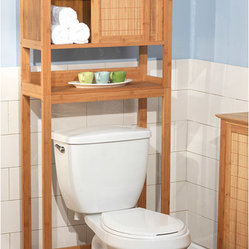 None - Bamboo Space Saver - This bamboo bathroom shelving ...