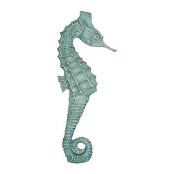 Craft-Tex - Coastal 24 in. Left Seahorse Sea Mist - Award winning designs. Exact reproduction of a Master Carvers original. Hand cast in a variety of mediums to insure the exact detailing of the original wood carving. Crafted by North Carolina artists with attention to detail. Made in USA. Made of pecan shell resin. 1-Year warranty. 24.5 in. L x 6 in. W x 1.5 in. H (4.5 lbs.)