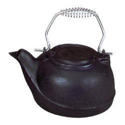 Uniflame - Kettle Style Black Cast Iron 3 Quart Fireplac - Kettle humidifier with 3 quart capacity serves your fireplace area in style.  Simply fill with water, set on stove & let the steam do the rest!  Steam from cast iro