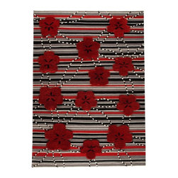 """MA Trading - Contemporary Kingston 8'3""""x11'6"""" Rectangle Red Area Rug - The Kingston area rug Collection offers an affordable assortment of Contemporary stylings. Kingston features a blend of natural Red color. Handmade of 60% Wool  20% Cotton  20% Polyester the Kingston Collection is an intriguing compliment to any decor."""