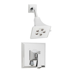 Speakman - Speakman Rainier Shower System with Non Diverter Valve in Polished Chrome - Speakman's Rainier Shower Valve System adds a unique square design to complete a bold look in the bathroom. The Rainier chrome faucet prevails a striking masculine update to your traditional styled bathroom fixtures. The newest design collection to the Speakman family; the Rainier Shower Valve System pairs with the Rainier collection of faucets and other bathroom accessories to present iconic exclusivity in any bathroom.