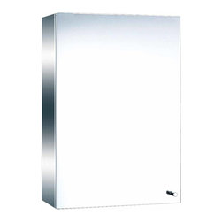 Renovators Supply - Medicine Cabinets Bright Stainless Mirror Cabinet 19 3/4H | 13517 - Medicine Cabinet with Mirror. Maximize storage in style, this exquisite medicine cabinet is 100% stainless steel inside and out. The perfect investment for any bathroom. Overall measures: 19 3/4 inch H x 13 3/4 inch W x 5 3/8 inch projection.