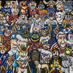 7th Inning Stretch - MLB Baseball Fan Art - A gathering of the best representatives of America's favorite pastime.