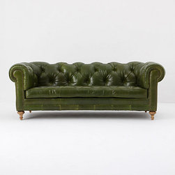 Atelier Chesterfield, Bottle Green - Here's something I don't have space for in my home office (but I wish I did). My husband and son love talking to me while I work, and this cool chesterfield sofa would be the perfect spot.