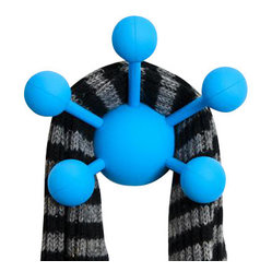 Atom Solid Blue Multipurpose Coat Hook