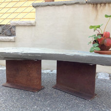 Contemporary Outdoor Benches by Inspired Stones