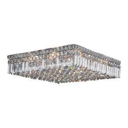"Worldwide Lighting - Worldwide Lighting W33519C20 Cascade 12 Light 20"" Flush Mount Ceiling Fixture in - Specifications:"
