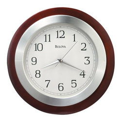BULOVA - Bulova Reedham Wood Wall Clock - This attractive wall clock features: