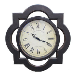 ecWorld - Antique Reproduction Architectural Wood Wall Clock - Uniquely designed frame surrounds a traditional wall clock for a one of a kind accent for your home. This architectural-looking accent piece is sure to transform any wall - you'll love it!