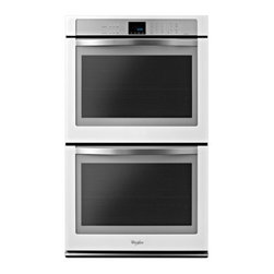 "Whirlpool - WOD93EC0AH 30"" Double Electric Wall Oven With 5.0 Cu. Ft. Per Oven  Self-Clean - The Whirlpool WOD93EC0AX 100 Cu Ft double electric wall oven seals in flavors and juices with TimeSavor Ultra true convection Using a rear fan and a third heating element to distribute heated air in four directions this double wall oven achieves bett..."