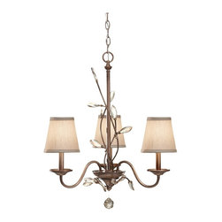 Murray Feiss - Murray Feiss F2695/3ARS Arctic Silver Priscilla 3 Light 1 Tier Mini Chandelier w - Lamping Technologies: