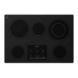 "Whirlpool - G9CE3065XB Gold 30"" Smoothtop Electric Cooktop with 5 Radiant Elements  Eco Frie - The Whirlpool G9CE3065XB 30 in electric cooktop features easy-to-use Tap Touch controls and a smooth sleek surface thats designed to intuitively control both high and low temperatures With this models dual radiant and AccuSimmer Plus elements melting..."