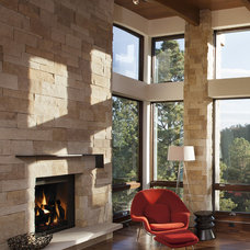 modern fireplaces by Mosaic Architects Boulder