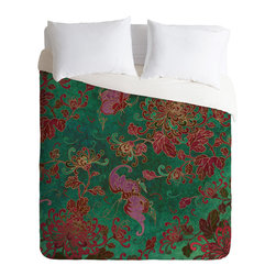 DENY Designs - Belle13 Chrysanthemum Garden Duvet Cover - Turn your basic, boring down comforter into the super stylish focal point of your bedroom. Our Luxe Duvet is made from a heavy-weight luxurious woven polyester with a 50% cotton/50% polyester cream bottom. It also includes a hidden zipper with interior corner ties to secure your comforter. It's comfy, fade-resistant, and custom printed for each and every customer.
