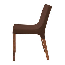 Blu Dot - Blu Dot Knicker Chair, Chocolate Brown - The Blu Dot Knicker Chair is a slender, solid dining chair with character and a nice range of upholstery options.