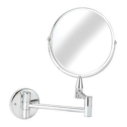 Croydex - Croydex Mirrors Small Round Magnifying Mirror in Chrome QA103041YW - A comprehensive range of bathroom accessories that is ideal for commercial applications such as hotels and housing developments. The stylish design compliments any bathroom setting and the range covers everything from towel racks and toilet roll holders to bottle openers and washing lines for over the bath!