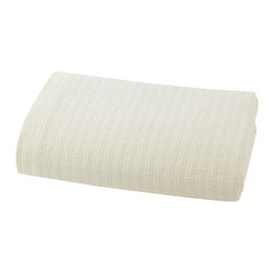 Kassatex - Kassatex Positano Collection Queen Coverlet, Ivory - 100% Cotton Matelasse 440GSM, Made in Portugal