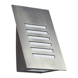 """Albert - Albert Modern outdoor wall sconce - 38/690228 - Product Details:    The outdoor wall sconce 38/690228 by Albert has been designed and made in Germany.  This top of the line modern outdoor lighting fixture features a Premium brushed stainless steel finish with a blown opaline glass. Lighting fixtures by Albert Quality feature a Top quality.  Albert only uses selected materials, which also stand firm against the increased pressure on the environment. For example aluminium, brass, stainless steel, synthetic resin varnish, silicate-, acrylic- and impact-resistant glasses. Albert modern outdoor lighting products are checked by their highly-qualified stuff. This is the guarantee for their national and international customers, wholesalers and communities to buy high albert-quality. Components which are not produced by Albert like glasses, synthetic materials and electronic components are delivered from well-known German and European companies.                                     Manufacturer:                                      Albert                                                      Designer:                                     In house design                                                     Made in:                                      Germany                                                     Dimensions:                                     Height: 8.6"""" (22 cm) X Width: 5.5"""" (14 cm) X Projection: 5.12"""" (13 cm)                                                      Lighting:                                      1 X max. 75W  G9 Halogen                                                             Materials:                                      stainless steel , blown glass                         Modern Outdoor Lighting 
