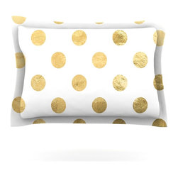 """Kess InHouse - KESS Original """"Scattered Gold"""" Metallic Pillow Sham (Cotton, 30"""" x 20"""") - Pairing your already chic duvet cover with playful pillow shams is the perfect way to tie your bedroom together. There are endless possibilities to feed your artistic palette with these imaginative pillow shams. It will looks so elegant you won't want ruin the masterpiece you have created when you go to bed. Not only are these pillow shams nice to look at they are also made from a high quality cotton blend. They are so soft that they will elevate your sleep up to level that is beyond Cloud 9. We always print our goods with the highest quality printing process in order to maintain the integrity of the art that you are adeptly displaying. This means that you won't have to worry about your art fading or your sham loosing it's freshness."""