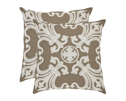 Safavieh Home Furniture - Margaret 22-Inch Khaki Decorative Pillows, Set of 2 - -Adorn your bed, sofa, or favorite reading chair with a refreshing geometric design from Safavieh. This eye-catching pillow will marry perfectly with your existing d�cor, adding lasting style for years to come.  - Please note this item has a 30-day manufacturer's limited warranty that covers product defects. Inspect your purchase upon delivery and notify us immediately with any concerns. Safavieh Home Furniture - PIL155A-2222-SET2
