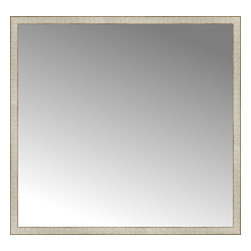 """Posters 2 Prints, LLC - 57"""" x 54"""" Libretto Antique Silver Custom Framed Mirror - 57"""" x 54"""" Custom Framed Mirror made by Posters 2 Prints. Standard glass with unrivaled selection of crafted mirror frames.  Protected with category II safety backing to keep glass fragments together should the mirror be accidentally broken.  Safe arrival guaranteed.  Made in the United States of America"""
