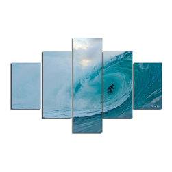 "Ready2HangArt - Nicola Lugo 'Surf'  30x60-inch Canvas Wall Art (5-piece Set) - Renowned Surf Photographer Nicola Lugo, takes you behind the lens of his travels worldwide. This photograph is offered as part of a limited ""Home Decor"" line, being the perfect addition to any living or work space."