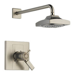 Delta - Delta T17T286-SS Arzo TempAssure 17T Series Shower Trim (Stainless) - With its square, modern style and eloquent functionality, the Arzo collection makes a unrivaled and bright addition to any bathroom.