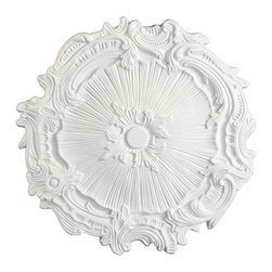 uDecor - MD-5162 Ceiling Medallion - Ceiling medallions and domes are manufactured with a dense architectural polyurethane compound (not Styrofoam) that allows it to be semi-flexible and 100% waterproof. This material is delivered pre-primed for paint. It is installed with architectural adhesive and/or finish nails. It can also be finished with caulk, spackle and your choice of paint, just like wood or MDF. A major advantage of polyurethane is that it will not expand, constrict or warp over time with changes in temperature or humidity. It's safe to install in rooms with the presence of moisture like bathrooms and kitchens. This product will not encourage the growth of mold or mildew, and it will never rot.