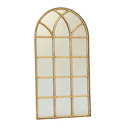 Verandah Mirror - Light up the hall behind your lawn with this large Verandah Mirror. It comes from a French country chic collection and gives a translucent outlook. Perfect to complement the terrace garden or a well-spacious lawn, this mirror has a well-shaped square cuts inside the frame.