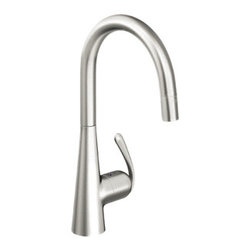 Grohe - Grohe 32226SD0 Main Sink Dual Spray Pull - Down In Stainless Steel - Grohe 32226SD0 from the Ladylux Faucet Collection follows the tradition of the original Ladylux, the first kitchen faucet in the United States with a pull out spray. With a contemporay design to match neary any design and a dual spray trigger style spray control and SilkMove technology for improved performance. The Grohe 32226SD0 is a Main Sink Dual Spray Pull - Down With a Stainless Steel Finish for a non-reflective cool finish.