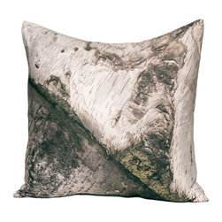 "Kuchi Kuu - Tanglewood Woodland Collection Artisan Pillow, 18"" x 18"" - Eco-friendly, artisan pillow covers are created from photographic images found in nature that are applied to organic cotton twill using water-based inks.  Pillow inserts are a 10/90 combination of down and feathers.  The pillow covers can be hand washed in cold water or dry cleaned."